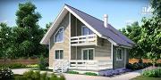 Фото: дом из бруса с сауной и террасой