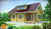 Фото: дом из сухого профилированного бруса с верандой