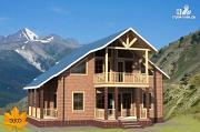 Проект дом из бруса с балконом