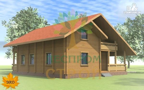Фото 4: проект дом из бруса с сауной и террасой