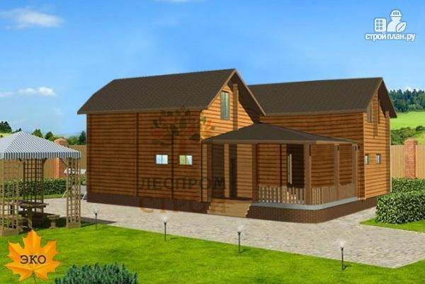 Фото 2: проект двухэтажный дом из бруса 150х150 мм со вторым светом