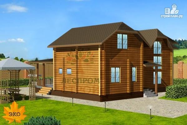 Фото 3: проект двухэтажный дом из бруса 150х150 мм со вторым светом