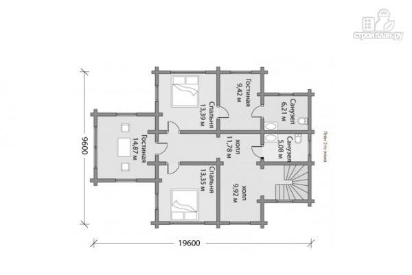 Фото 5: проект двухэтажный брусовой дом