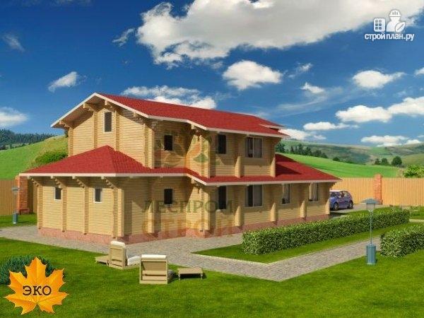 Фото 2: проект двухэтажный брусовой дом
