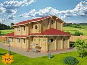 Проект двухэтажный брусовой дом