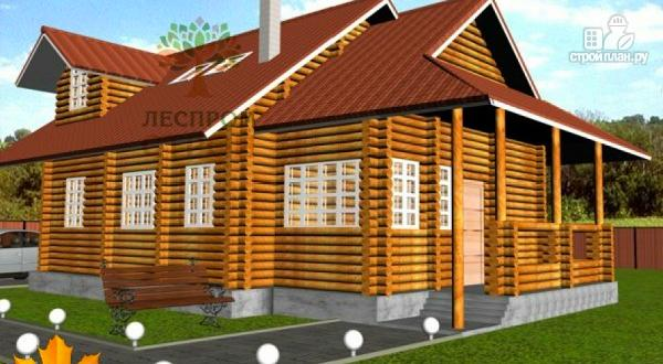 Фото: проект дом из оцилиндрованного бревна