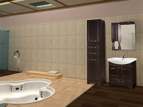 Фото Камелия комплект мебели для классической ванной комнаты