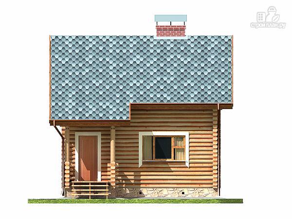 Фото 9: проект дом-баня 5.5х6.8 из оцилиндрованного бревна 220 мм