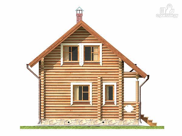 Фото 10: проект дом-баня 5.5х6.8 из оцилиндрованного бревна 220 мм