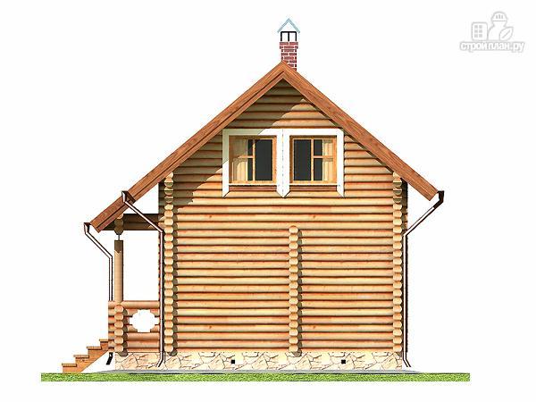 Фото 12: проект дом-баня 5.5х6.8 из оцилиндрованного бревна 220 мм