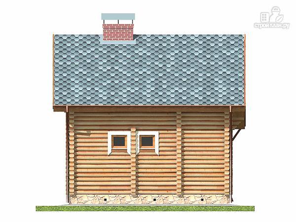 Фото 11: проект дом-баня 5.5х6.8 из оцилиндрованного бревна 220 мм