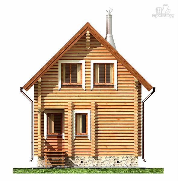 Фото 8: проект дом-баня 6х6 м с двумя спальнями