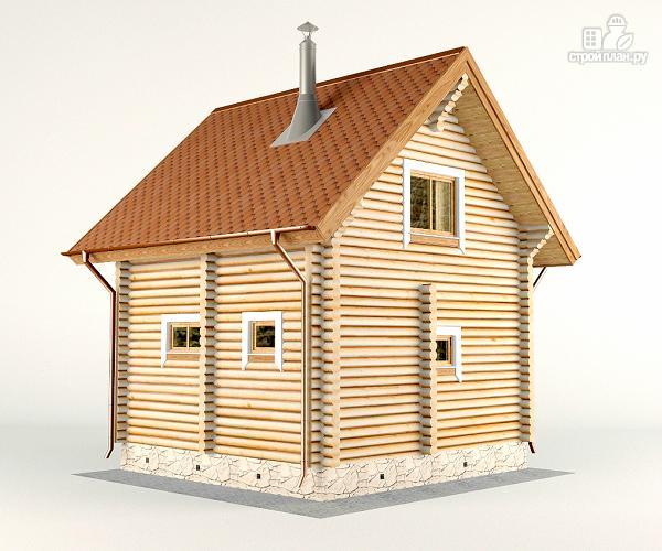 Фото 7: проект дом-баня 6х6 м с двумя спальнями