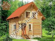 Проект дом-баня 6х6 м с двумя спальнями