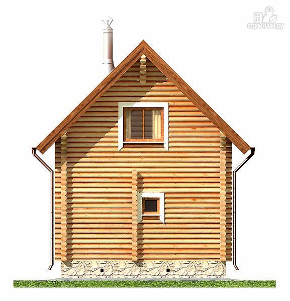 Фото 10: проект дом-баня 6х6 м с двумя спальнями