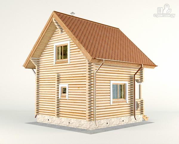 Фото 6: проект дом-баня 6х6 м с двумя спальнями