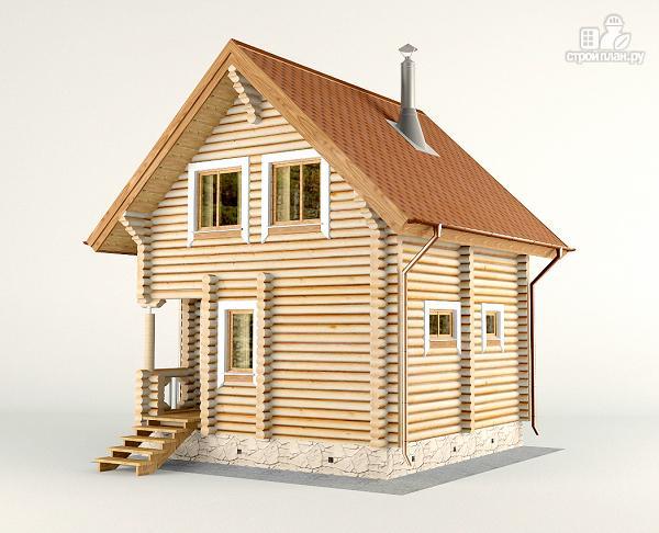 Фото 4: проект дом-баня 6х6 м с двумя спальнями