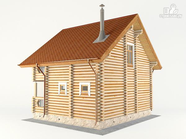 Фото 8: проект дом-баня 7.2х8.4 м из оцилиндрованного бревна 240 мм