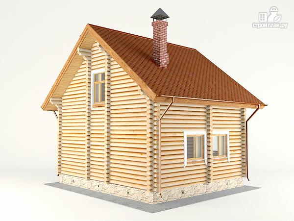 Фото 7: проект дом-баня 7.2х8.4 м из оцилиндрованного бревна 240 мм