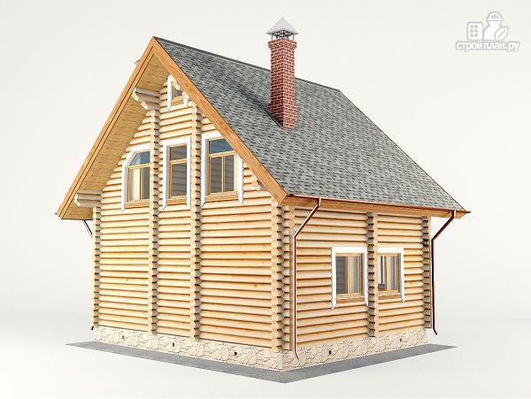 Фото 8: проект дом-баня 7.2х8.6 м из оцилиндрованного бревна 240 мм