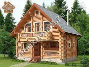 Фото: дом-баня 7.2х8.6 м из оцилиндрованного бревна 240 мм