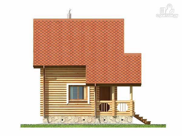 Фото 9: проект двухэтажный дом-баня 6х6 м с террасой
