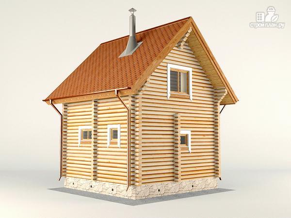 Фото 7: проект двухэтажный дом-баня 6х6 м с террасой