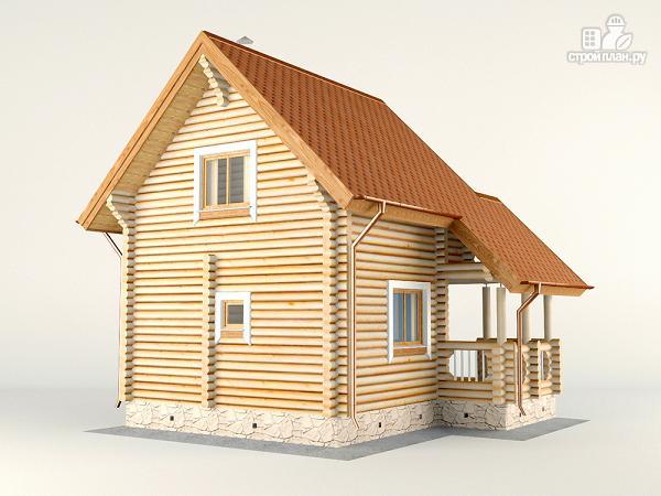 Фото 6: проект двухэтажный дом-баня 6х6 м с террасой