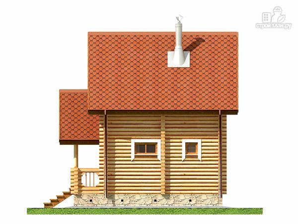 Фото 11: проект двухэтажный дом-баня 6х6 м с террасой