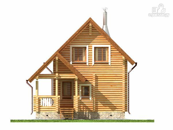 Фото 8: проект двухэтажный дом-баня 6х6 м с террасой