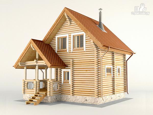 Фото 4: проект двухэтажный дом-баня 6х6 м с террасой