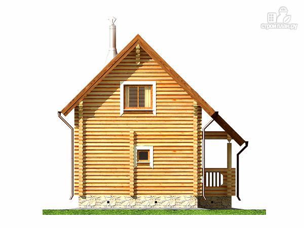 Фото 10: проект двухэтажный дом-баня 6х6 м с террасой