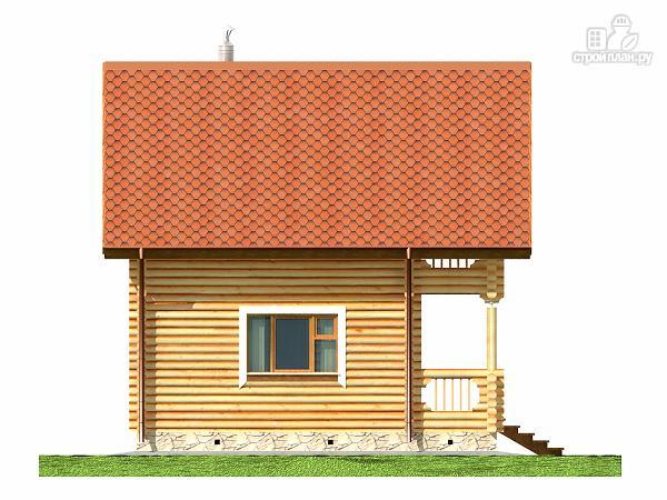 Фото 10: проект дом-баня 5.7х7.4 из оцилиндрованного бревна 200 мм