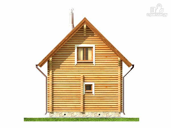 Фото 11: проект дом-баня 5.7х7.4 из оцилиндрованного бревна 200 мм