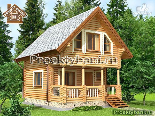 Фото: проект домик для отдыха с бильярдной комнатой