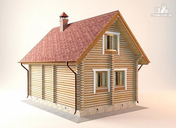 Фото 7: проект дом-баня с двумя спальнями 5.6х8.2 м