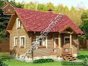 Проект дом-баня с двумя спальнями 5.6х8.2 м