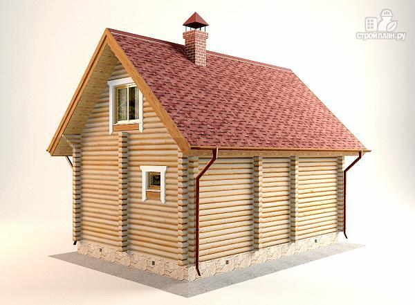 Фото 6: проект дом-баня с двумя спальнями 5.6х8.2 м