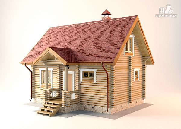 Фото 5: проект дом-баня с двумя спальнями 5.6х8.2 м