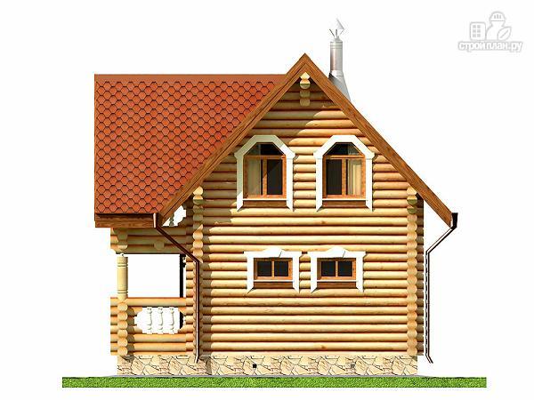 Фото 13: проект дом-баня 6х6 м из оцилиндрованного бревна 260 мм