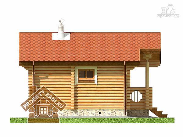 Фото 8: проект одноэтажная баня с просторной террасой 6.7 х 6.3 м