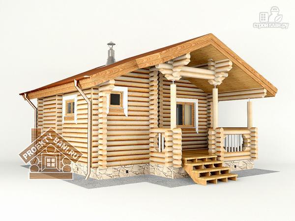 Фото 3: проект одноэтажная баня с просторной террасой 6.7 х 6.3 м