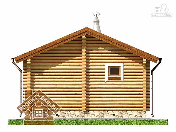 Фото 9: проект одноэтажная баня с просторной террасой 6.7 х 6.3 м