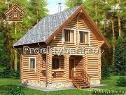 Фото: компактный дом-баня с двумя спальнями