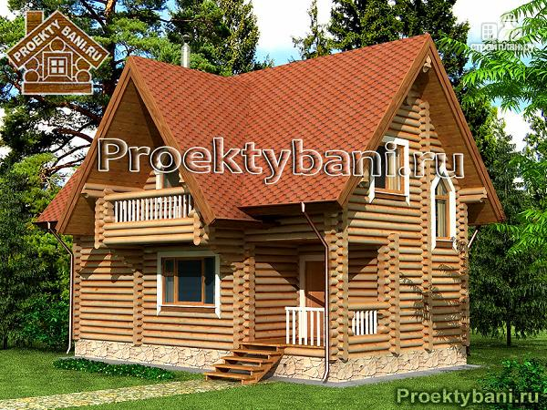 Фото: проект дом баня с бильярдной и двумя спальнями