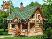 Фото: дом-баня с просторной террасой