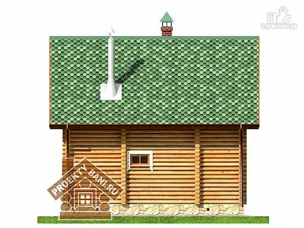 Фото 10: проект дом-баня с просторной террасой