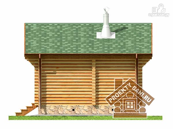 Фото 10: проект одноэтажная баня с дровницей