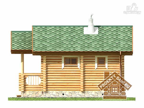 Фото 10: проект одноэтажная баня с просторной террасой