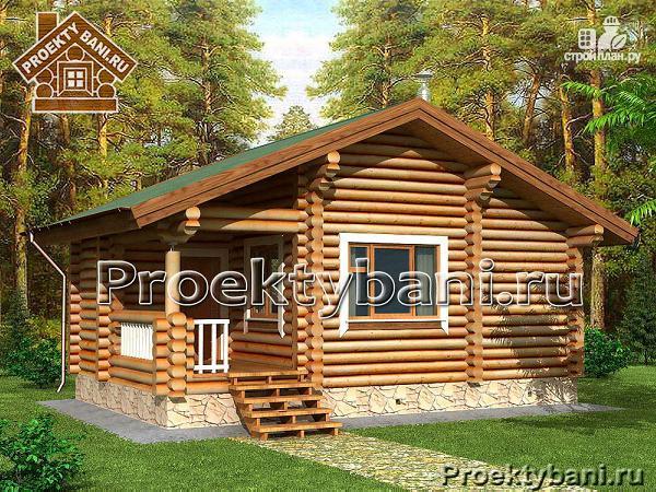 Фото: проект одноэтажная баня 5.4 х 8.4 м